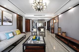 139平新中式装修客厅效果图