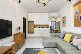 四居室北欧风格家收纳柜图片