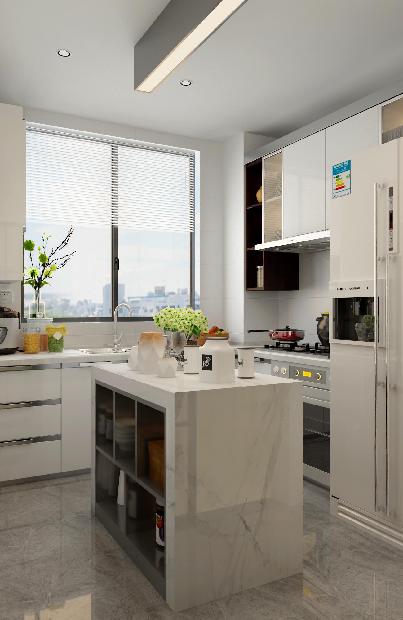 108㎡现代简约厨房设计图