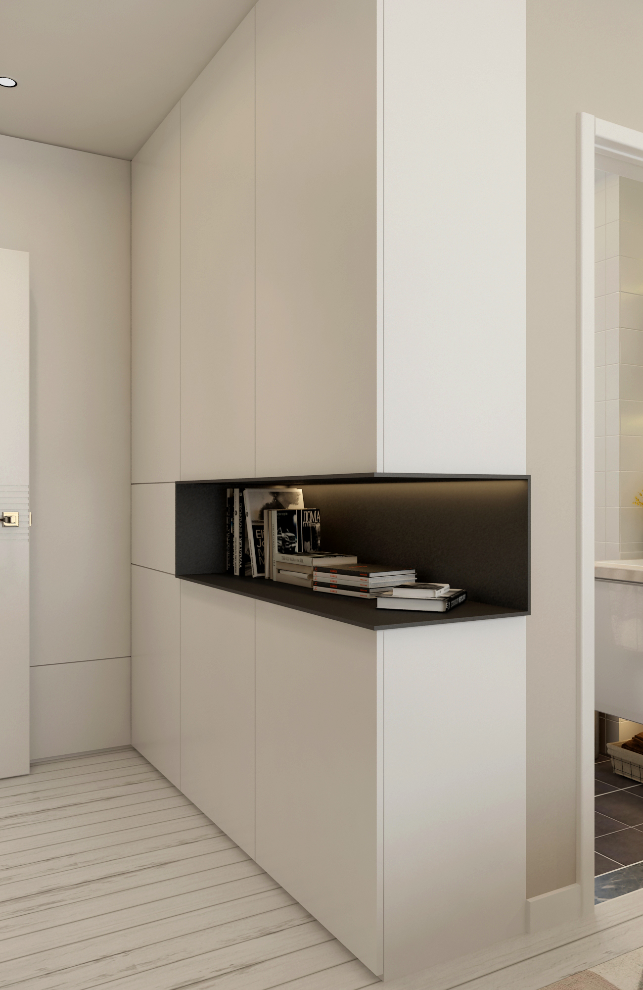 108㎡现代简约设计衣柜图片