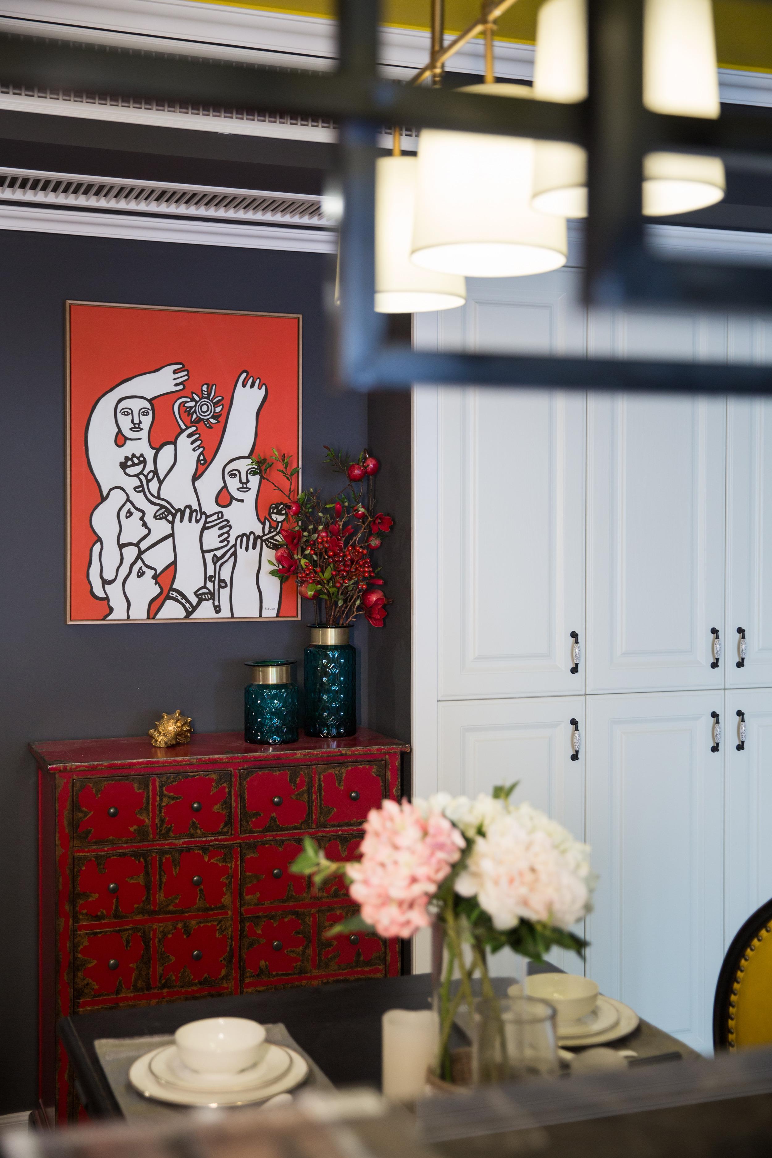 美式风格三居玄关柜图片