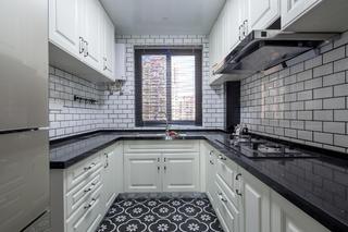 美式风格三居厨房构造图
