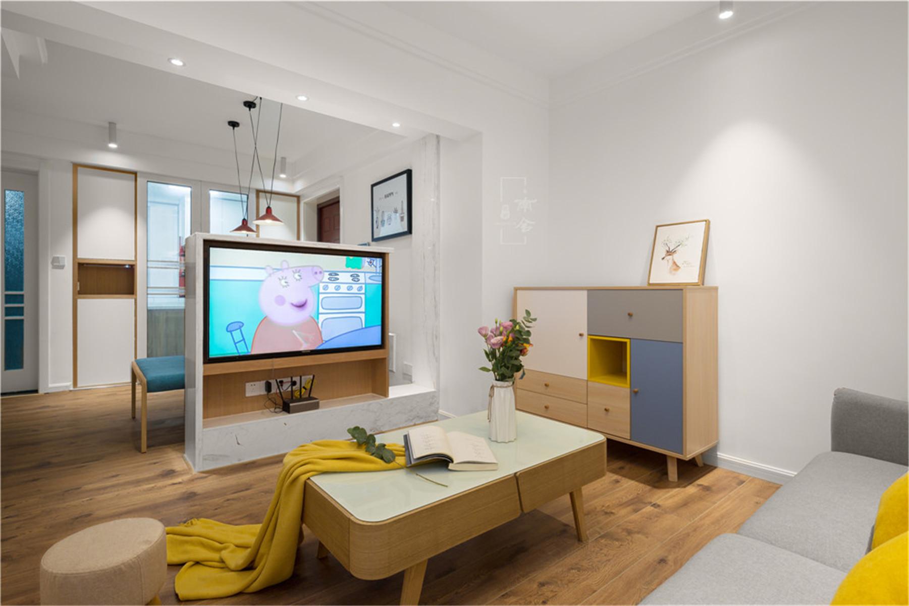 95㎡北欧风格家电视墙设计