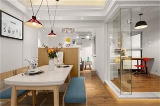 95㎡北欧风格家餐厅隔断设计