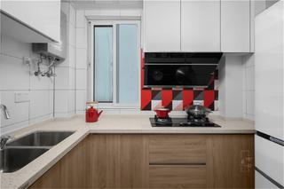 95㎡北欧风格家厨房欣赏图