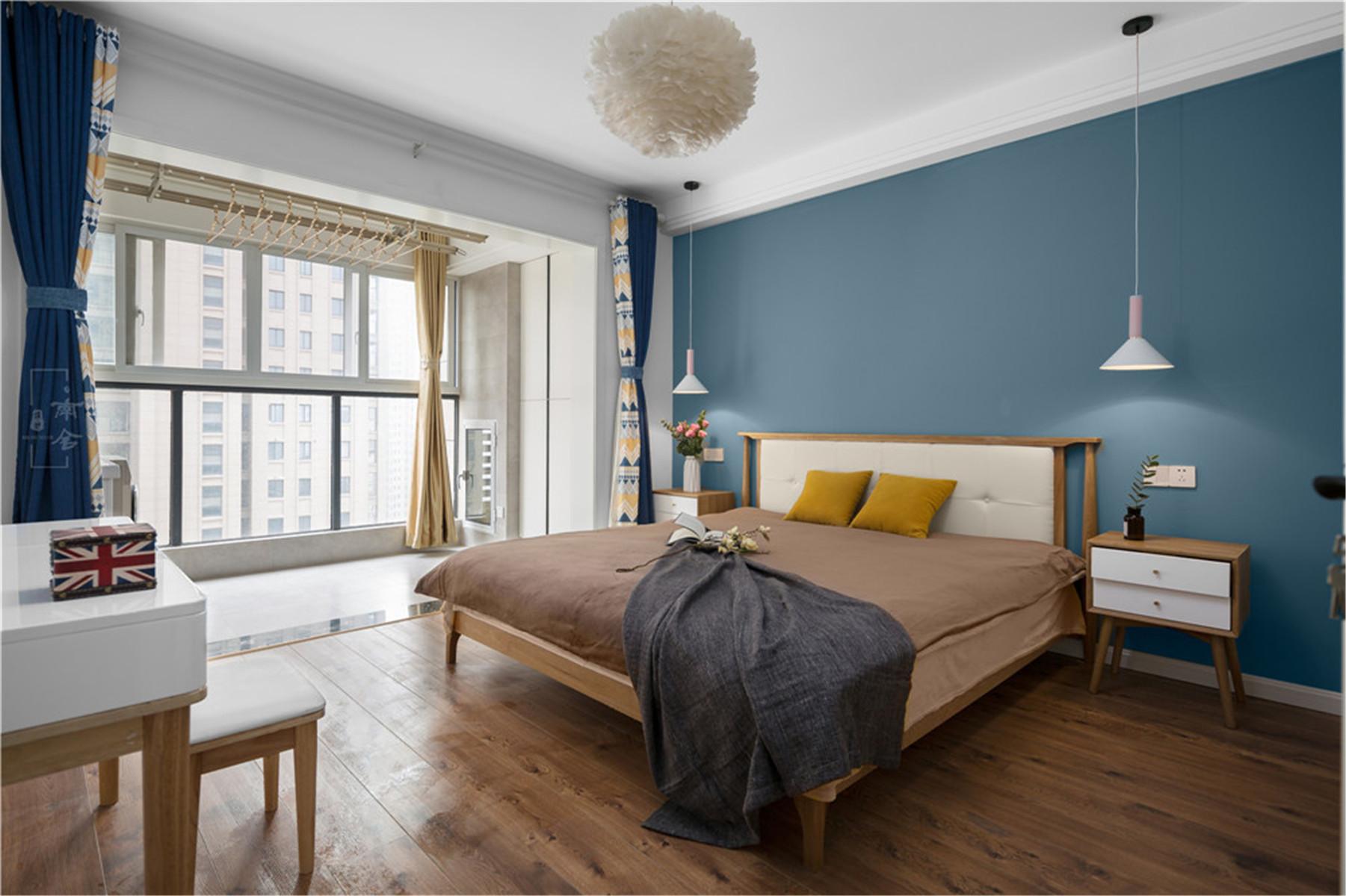 95㎡北欧风格家卧室效果图
