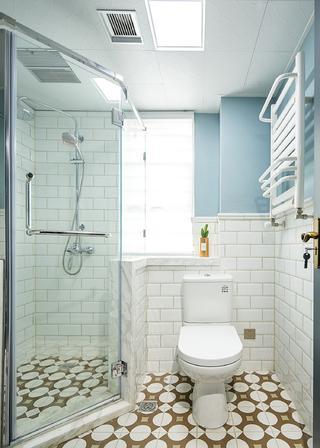 125㎡美式风格家卫生间装潢图