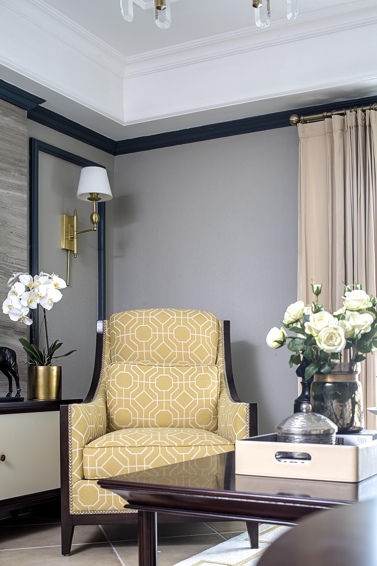 125㎡美式风格家单人沙发图片