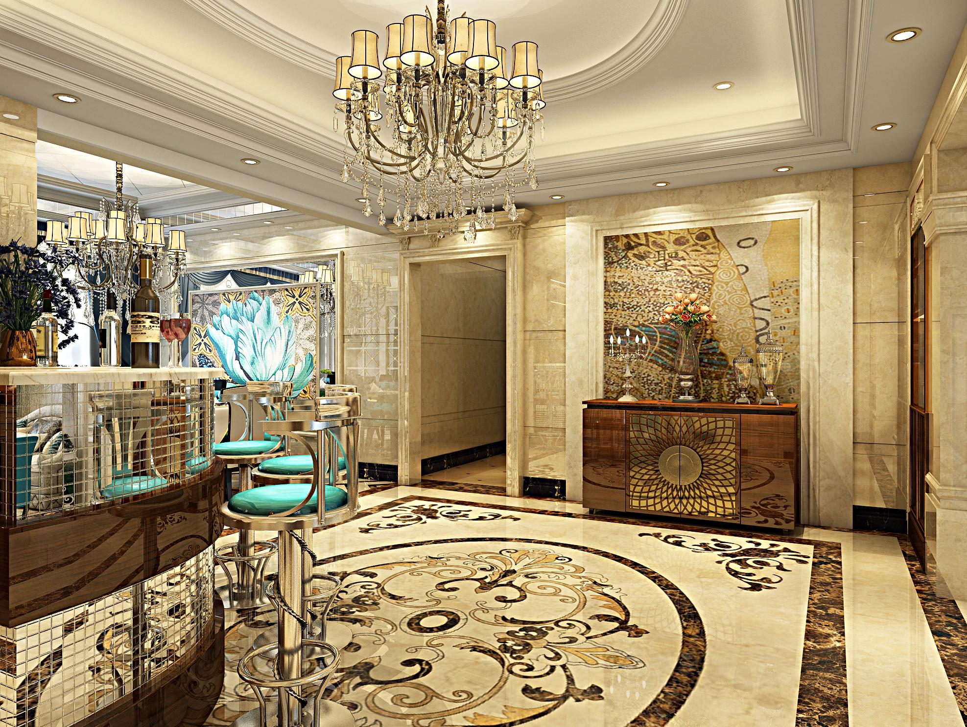 欧式豪华装修门厅效果图
