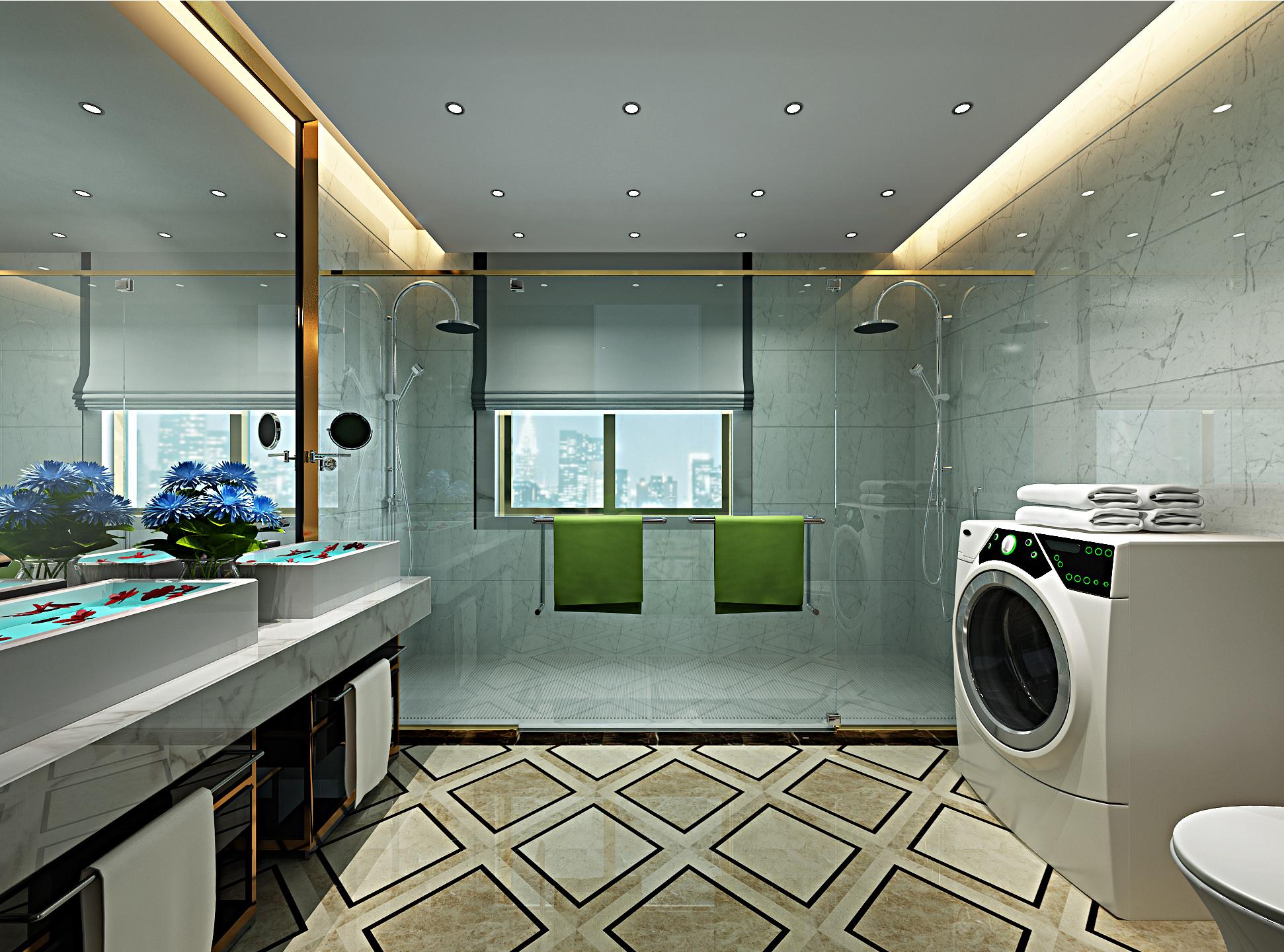 欧式豪华装修卫生间设计图