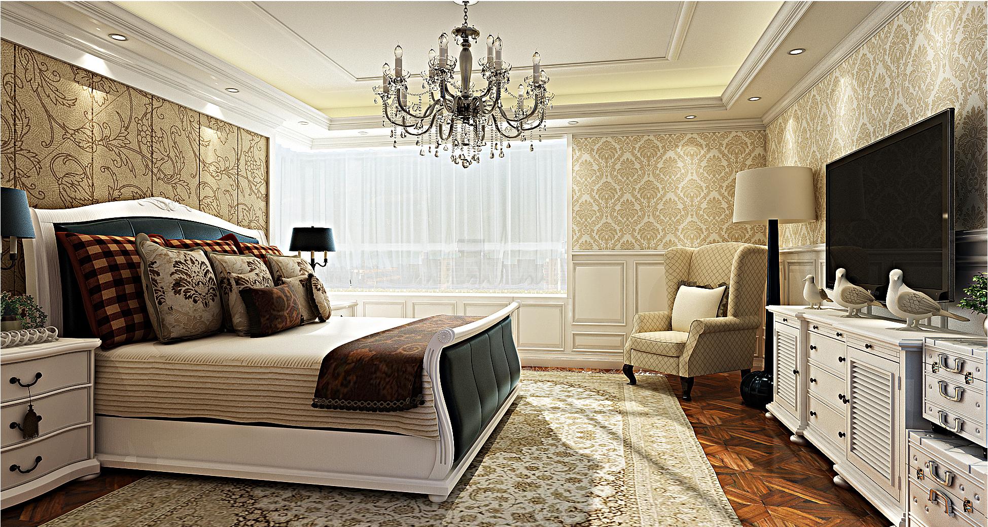 欧式豪华装修卧室效果图