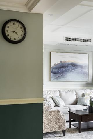 现代美式四居装修客厅一瞥