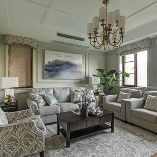 现代美式四居装修 舒缓清新