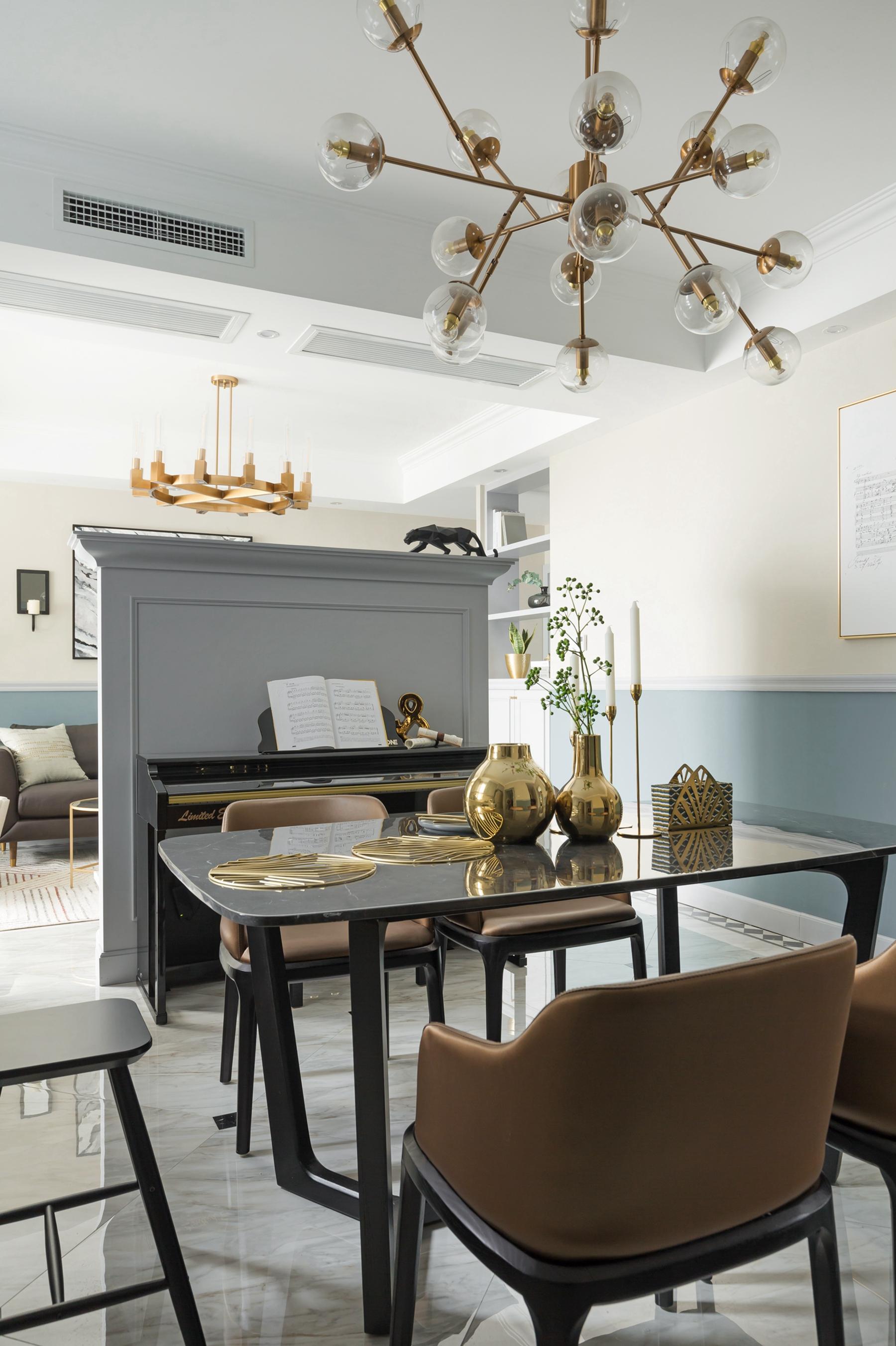四居室北欧风情家客餐厅隔断设计