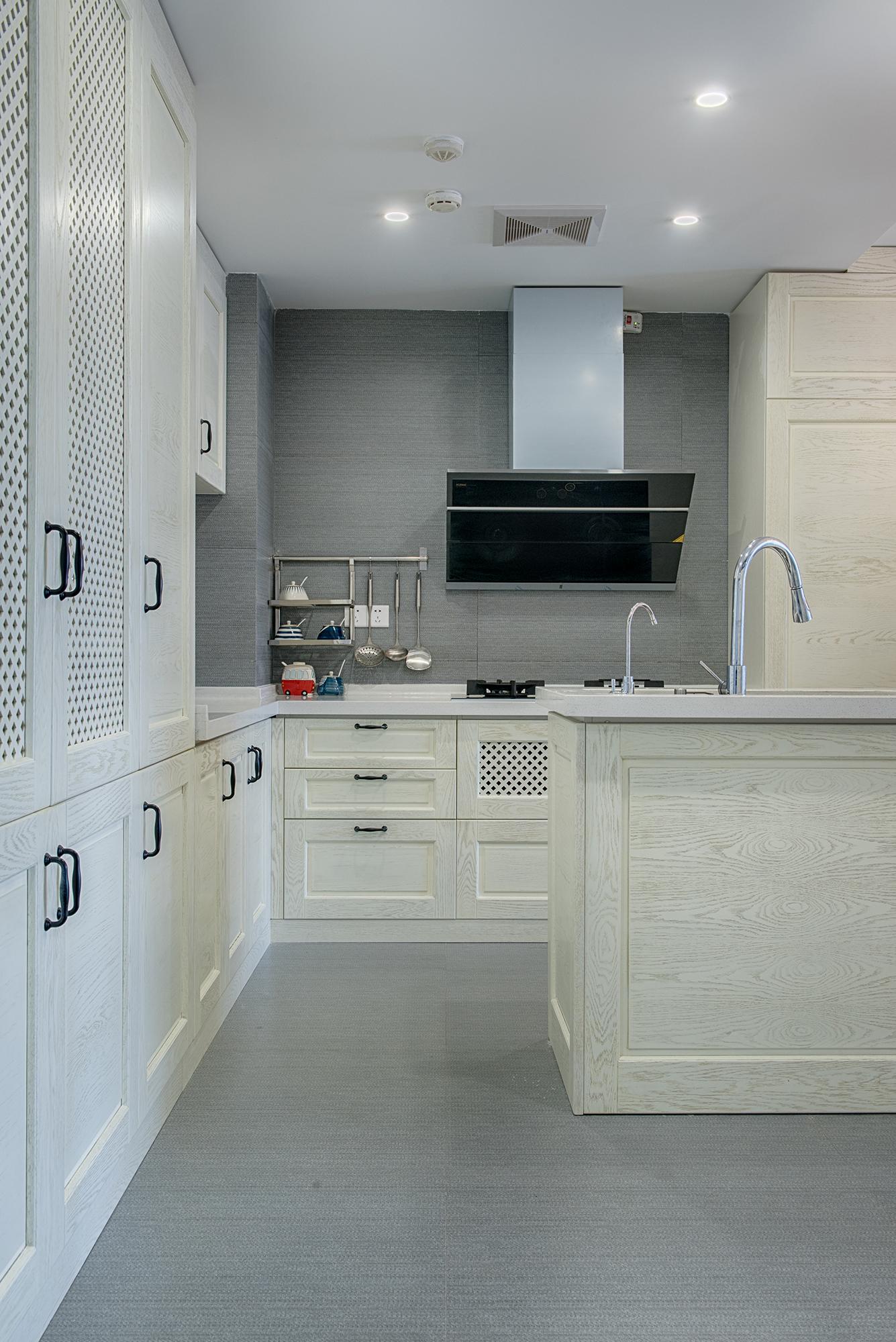 60㎡美式装修厨房效果图