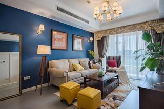60㎡美式装修沙发背景墙图片