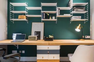 89㎡北欧自然家装修书房工作台