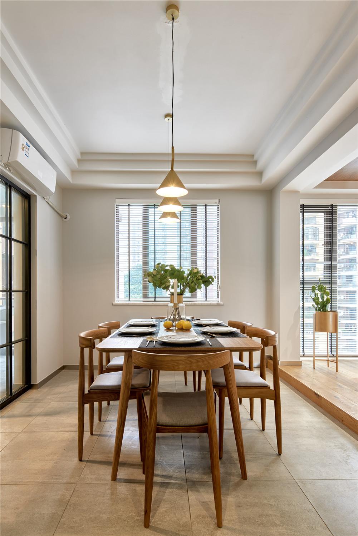 现代北欧三居装修餐厅效果图