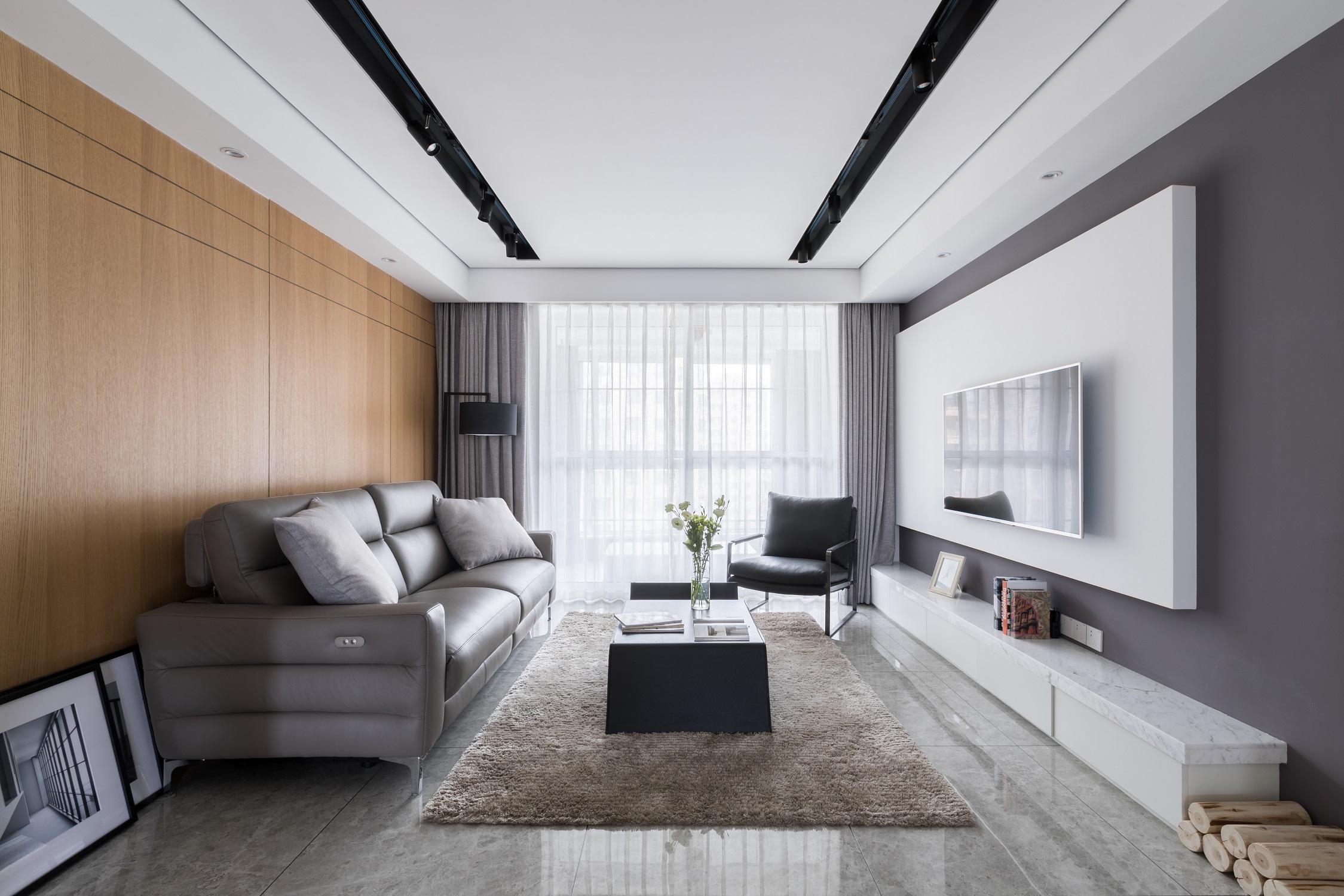 现代简约装修客厅设计图