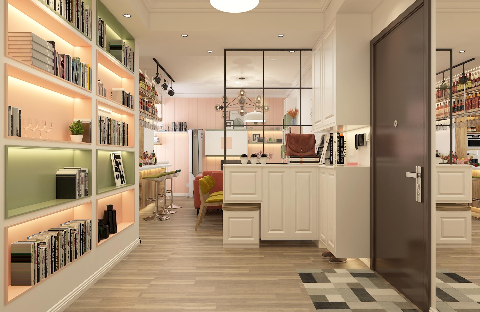 二居室混搭风格家门厅设计