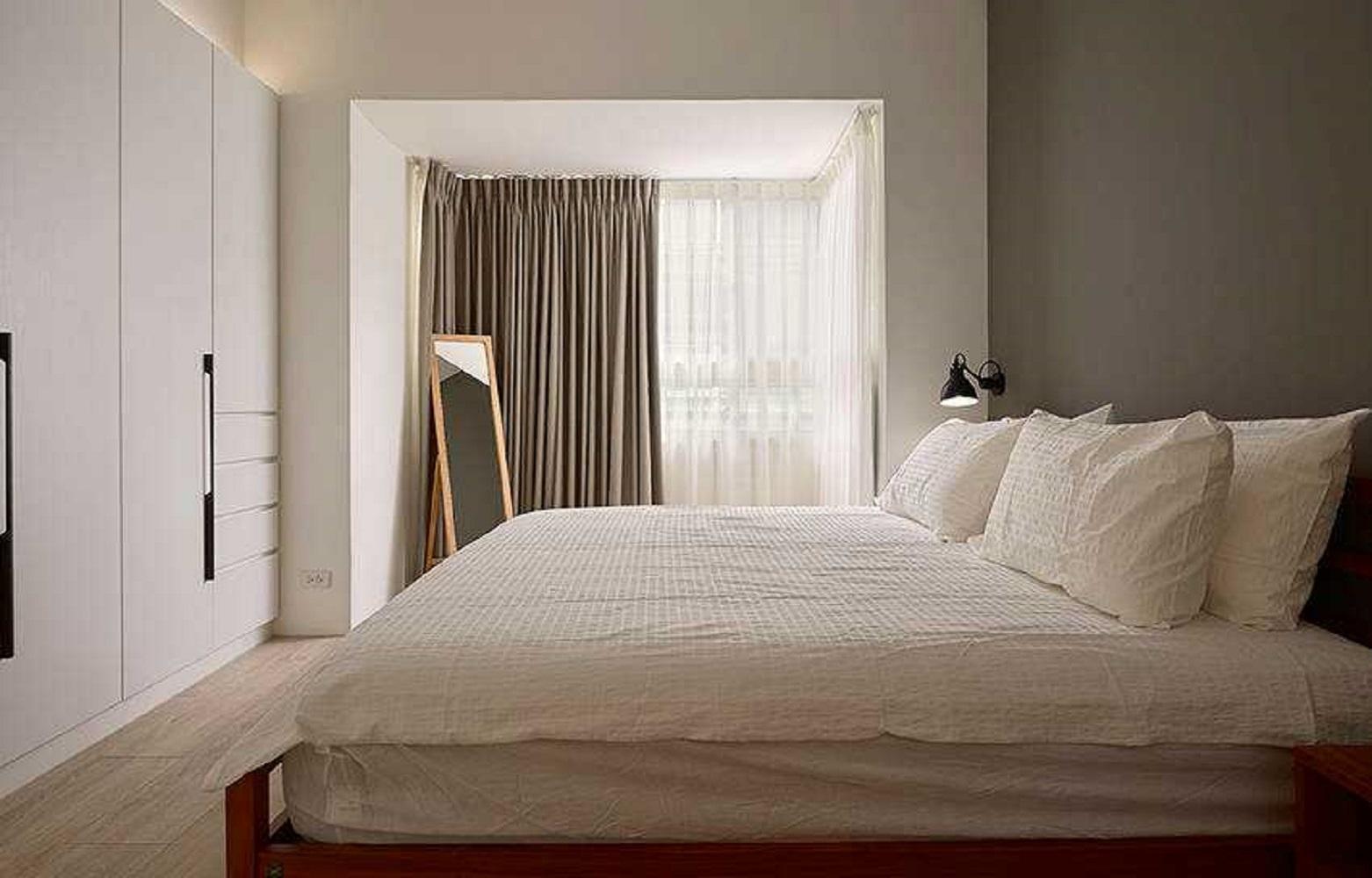 三居室北欧风设计卧室效果图