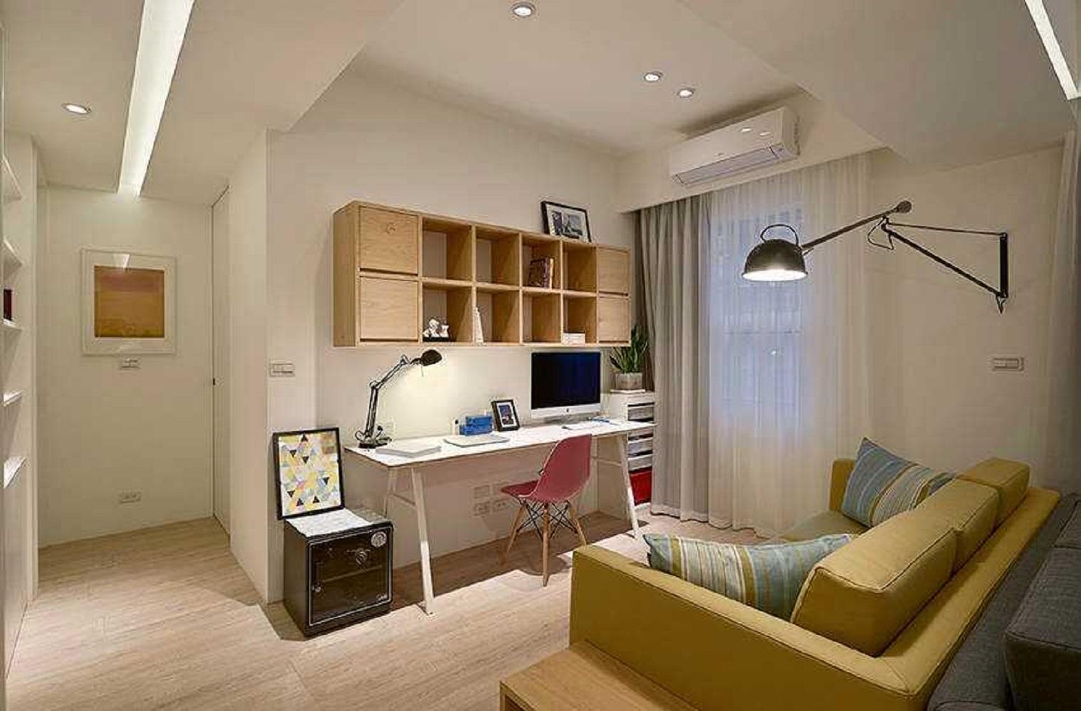 三居室北欧风设计书房效果图