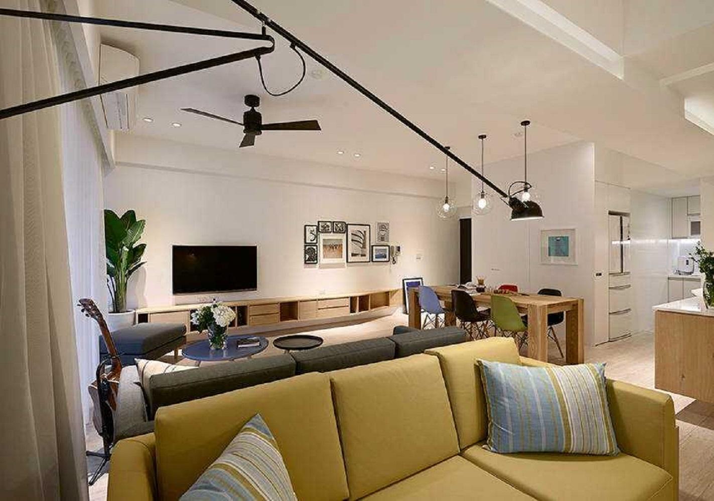 三居室北欧风书房壁灯设计