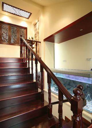新中式复式装修楼梯设计