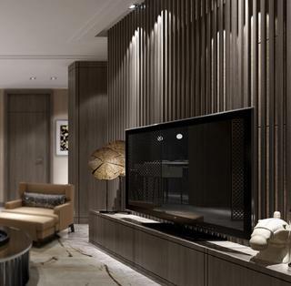 中式风装修电视背景墙图片