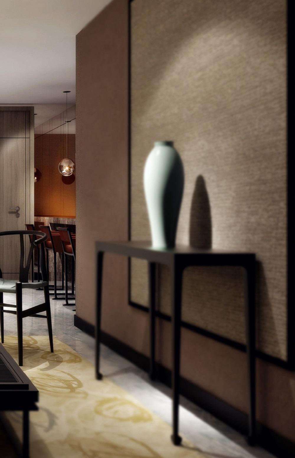 中式风装修边桌装饰摆件