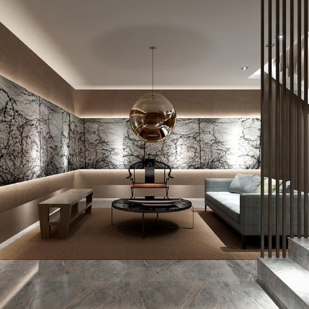 中式风装修效果图 水墨雅居