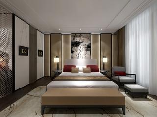 中式风装修卧室效果图
