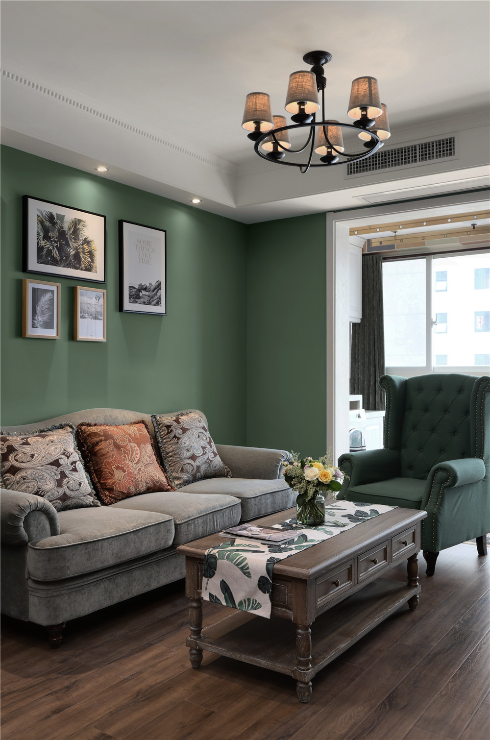 83㎡美式风格家沙发茶几图片