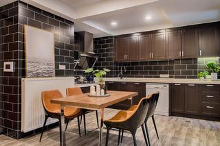 60㎡混搭二居装修开放式厨房设计