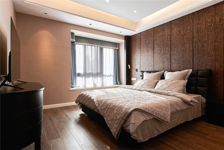 130平混搭风格装修卧室效果图
