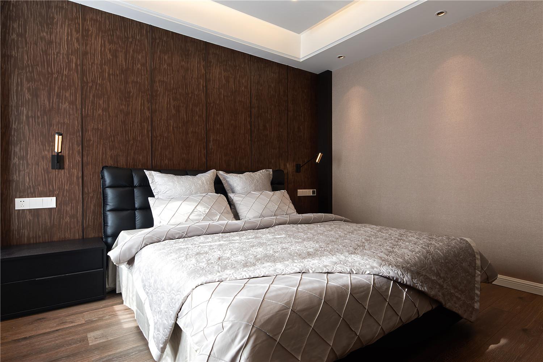130平混搭风格装修卧室背景墙图片