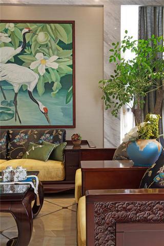 中式别墅装修客厅局部图片