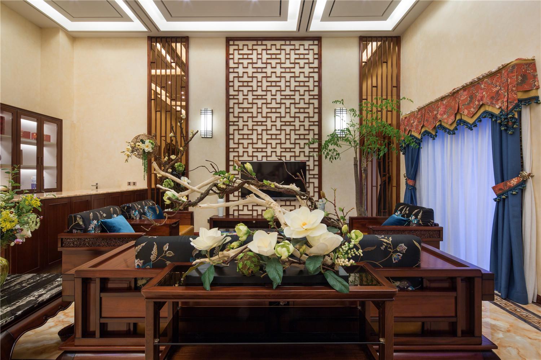 中式别墅装修客厅欣赏图