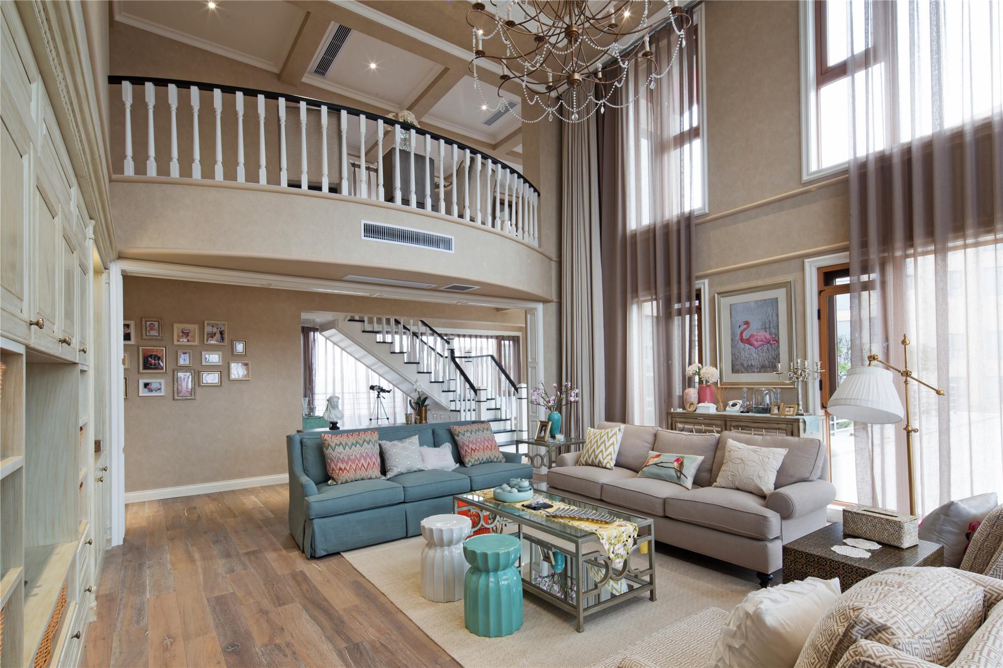 美式复式装修客厅欣赏图