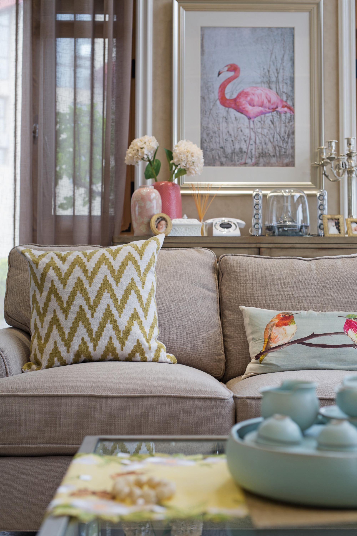 美式复式装修沙发图片