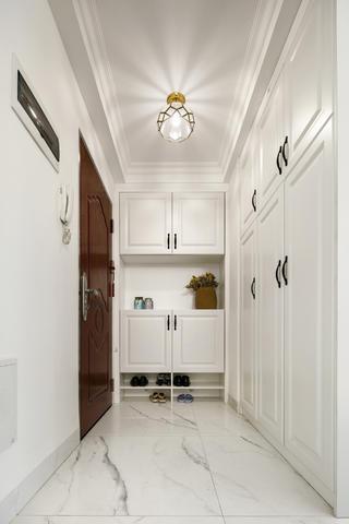 三居室现代美式家门厅设计
