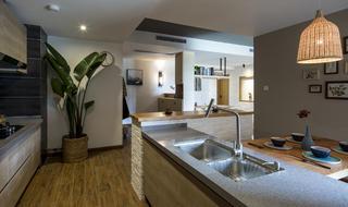 100平北欧二居厨房设计图