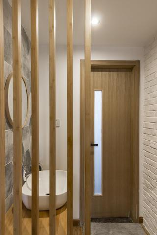 100平北欧二居木格栅隔断设计