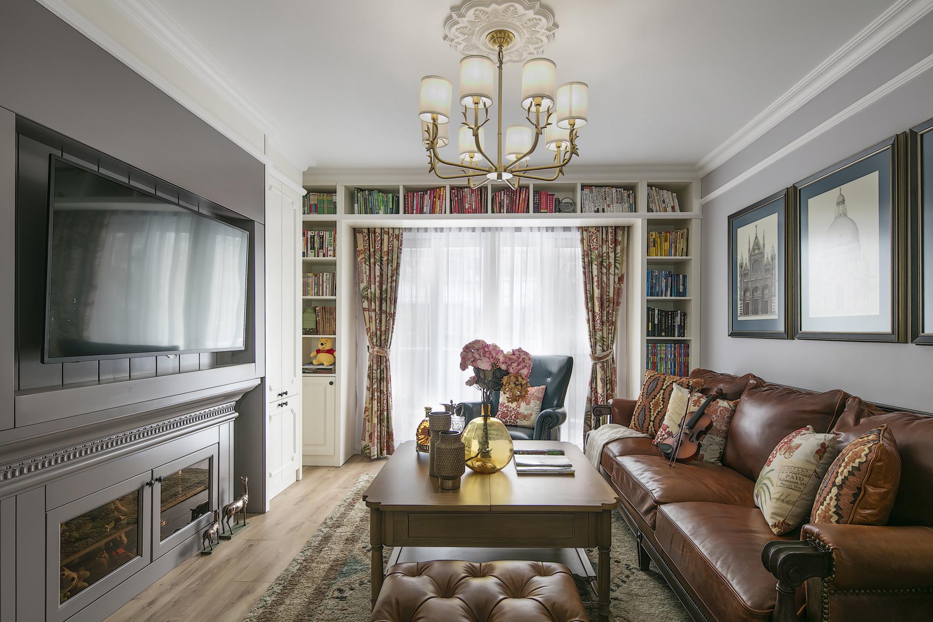 低奢美式风格家装修客厅效果图