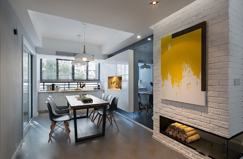 60平北欧二居装修客厅效果图