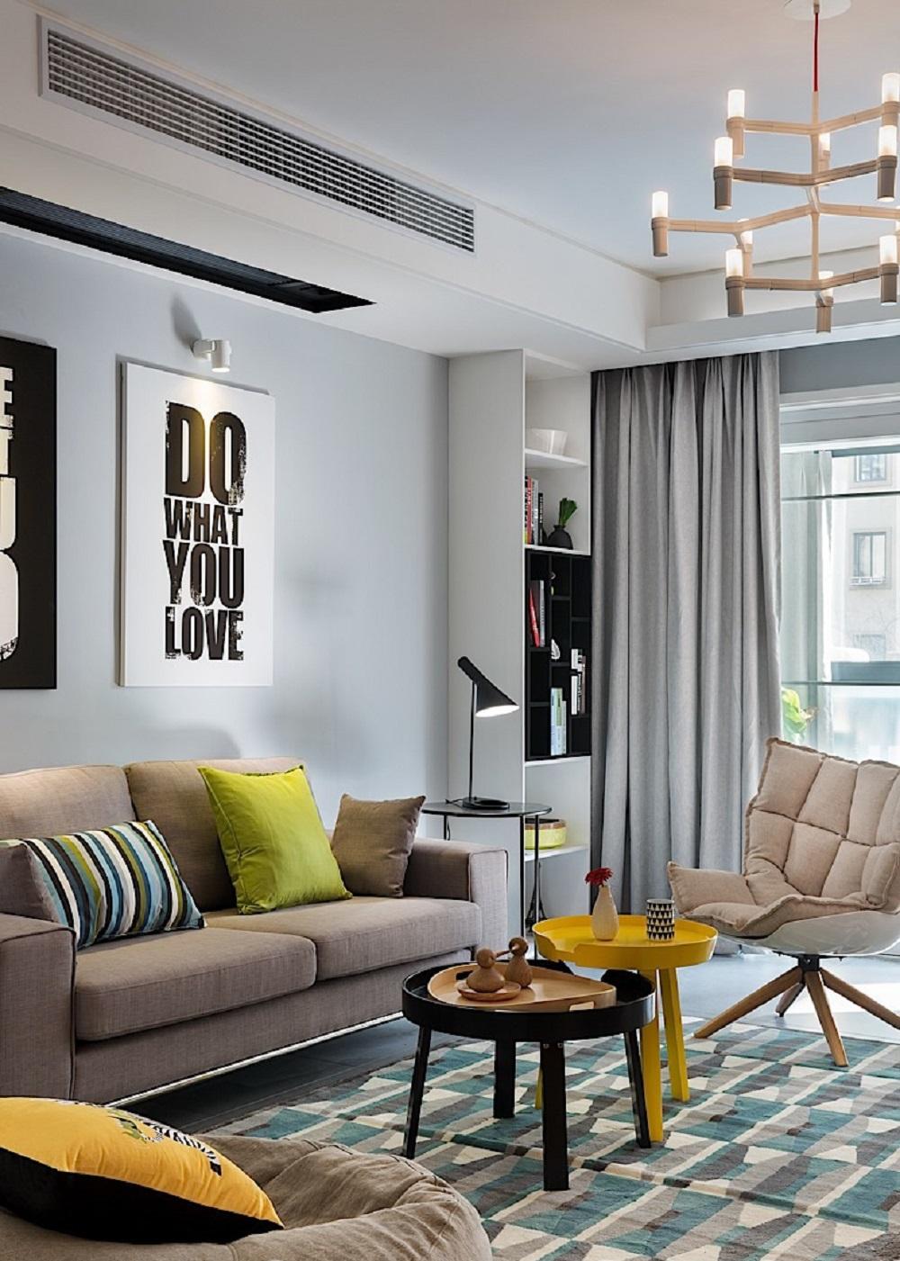 60平北欧二居装修卧室效果图