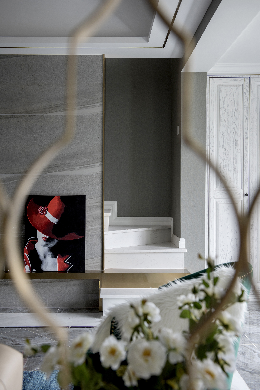 四居室新古典设计电视背景墙局部图片