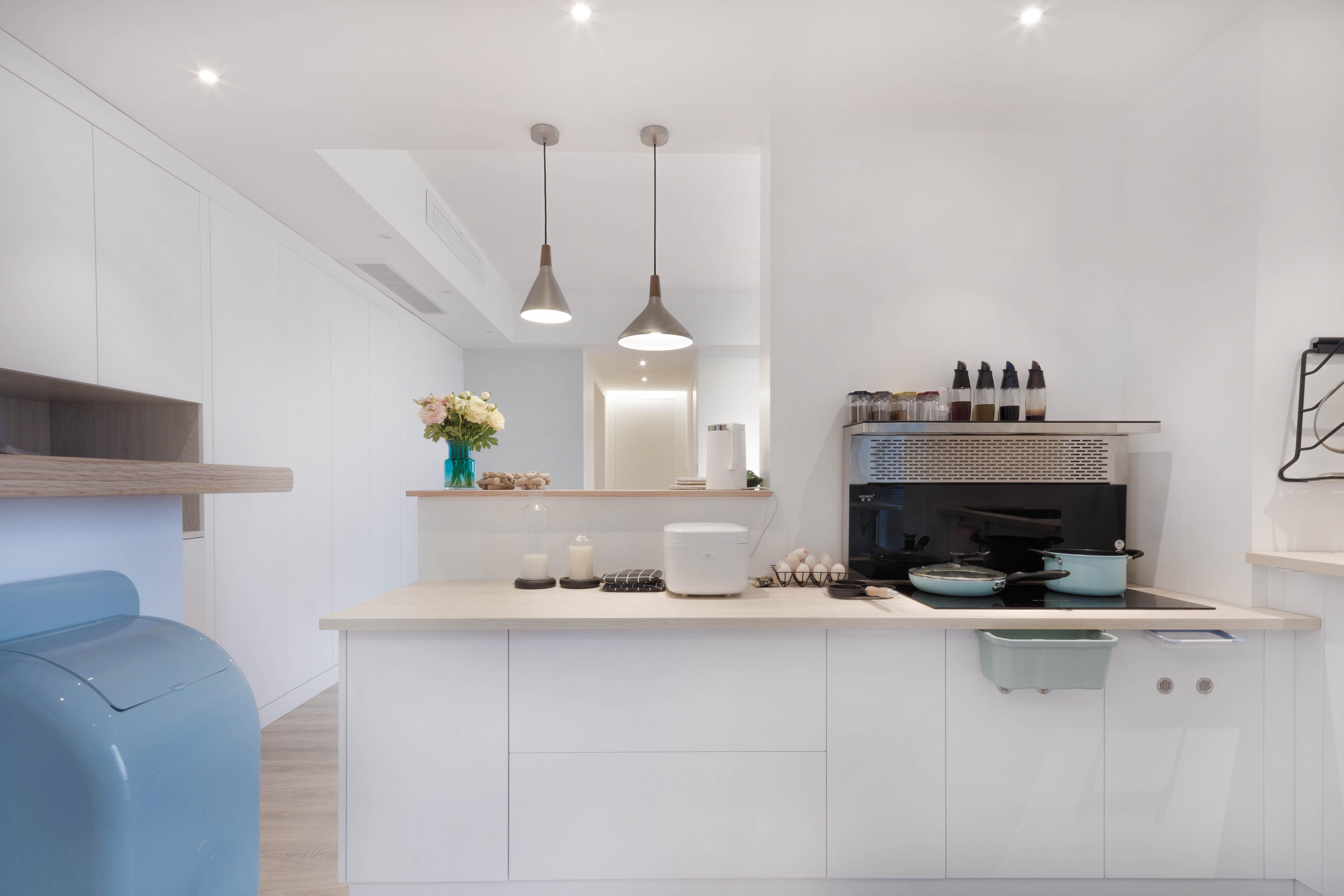 90平简约风装修厨房欣赏图