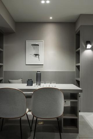 118㎡二居室装修餐厅背景墙图片