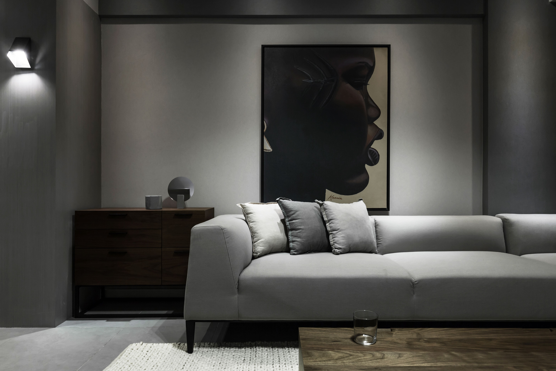 118㎡二居室装修沙发背景墙图片